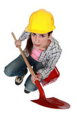 用铁铲女性生成器 — 图库照片