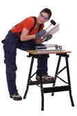Craftswoman working — Stock Photo