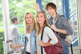 Students leaving — Stock Photo