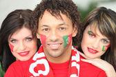 Portugalské fotbalové fanoušky — Stock fotografie