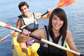 Par en kayak — Foto de Stock