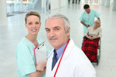 Medical staff in hospital — Stock Photo