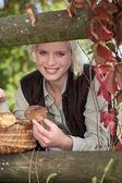 Mushroom picking — Stock Photo