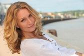 Krásná zralá žena — Stock fotografie