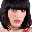 Portrait of a woman with a bob cut — Stock Photo #8671159