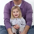Loving father and cute blonde daughter — Stock Photo