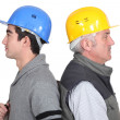 Stock Photo: Workers with age difference