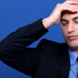 Businessman stressed out at work — Stock Photo #8675301