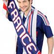 torcedor de futebol francês — Foto Stock