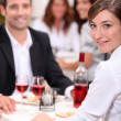 Couple at restaurant — Stock Photo #8677233
