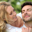 Happy couple in the park — Stock Photo #8678002