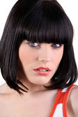 Portrait of a woman with a bob cut — Stock Photo