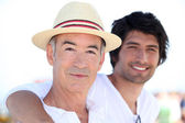 Father and son on vacation — Stock Photo