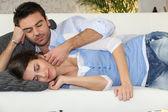 Boyfriend caressing his girlfriend — Stock Photo