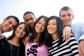 Group of young posing for photo — Stock Photo