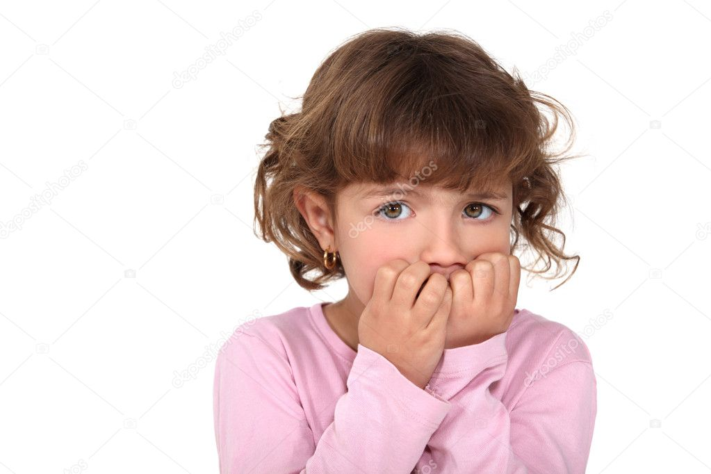 A fearful child — Stock Photo #8676640