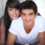 Portrait of teenage couple — Stock Photo #8688746