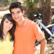 Young couple on bike ride — Stock Photo #8688754