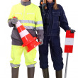 Civil construction workers — Stock Photo