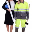 An architect and her foreman. — Stock Photo