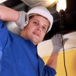 Plumber on the phone - Stockfoto