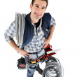 Stock Photo: High-angle shot of tradesman