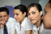 Young businesspeople in a meeting — Stockfoto