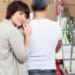 Couple  moving house - Stock Photo
