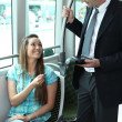 Stock Photo: Picture of a ticket collector