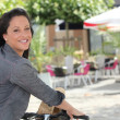 Cycling sunshine - Stock Photo