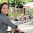 Stock Photo: Cycling sunshine
