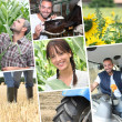 Young farmers — Stock Photo