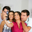 Stock Photo: Friends taking a picture of themselves