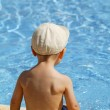 Little boy in the swimming pool — Stock Photo #8753445