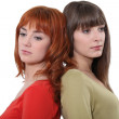 Sad young women — Stock Photo