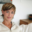 Woman with short hair — Stock Photo