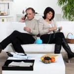 Married couple enjoying a relaxing evening — Stock Photo #8758021