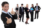 Business group gathered together — Stock Photo