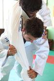 Ruch w judo. — Zdjęcie stockowe