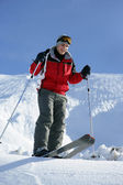 A man going skiing — Stock Photo
