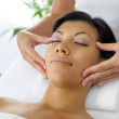 Woman getting a face massage — Stock Photo #8772461
