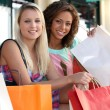 Two beautiful girls shopping — Stock Photo #8775181