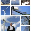 Stock Photo: Mosaic of alternative energy sources