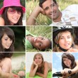 Stock Photo: Portraits of young