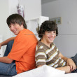 Two teenagers having fun at home — Stock Photo #8775951