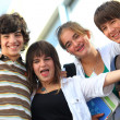 Small group of teenage friends — Stock Photo