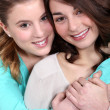 Two teenage friends — Stock Photo