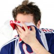 Downcast French football fan — Stock Photo #8778021