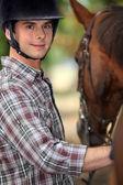 Jag vill vara en jockey — Stockfoto