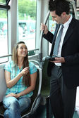 Picture of a ticket collector — Stock Photo